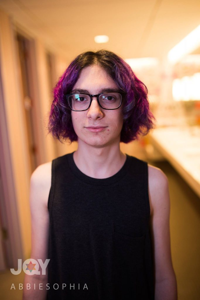 """For so many of my trans sisters, the bathroom is a place of fear and danger. After all the hate, violence and discrimination that has happened in the past few months, from France to North Carolina to Orlando, it makes me so proud to stand here [in the JQY drop-in center], without fear, Jewish, trans and queer."""